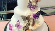 Events Bat Mitzvah Butterfly Cake
